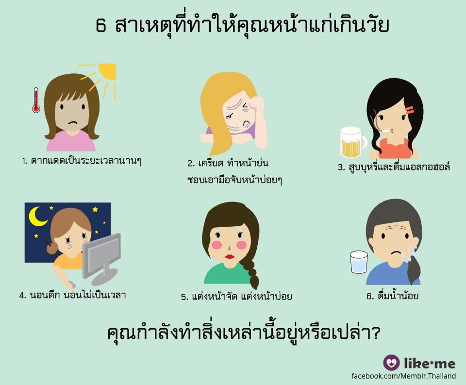6 สาเหตุ ที่ทำให้หน้าแก่เกินวัย